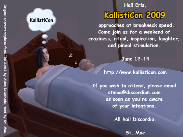 KallistiCon 2009 Poster by Alden Loveshade and St. Mae