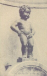 Statue of young boy relieving himself--ah, relief!