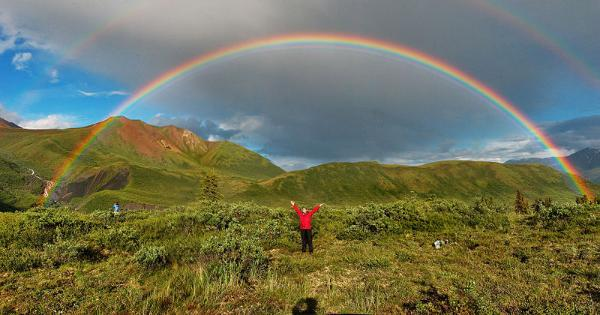 Full featured double rainbow photo taken in Wrangell-St. Elias National Park, Alaska by Eric Rolph