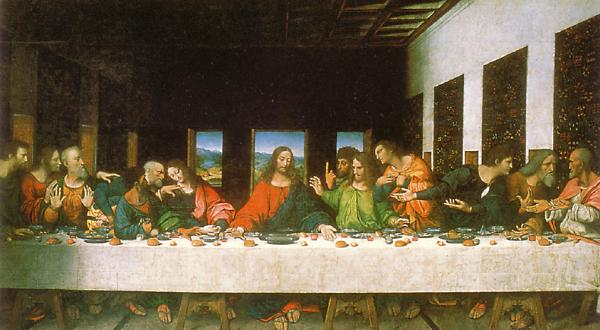 Copy of Leonardo da Vinci's Last Supper (anyone know who painted this?)